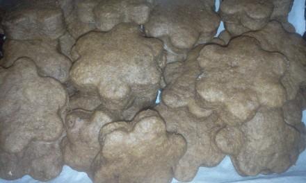 Biscuiți cu banană, iaurt și carob (pudră de roșcove)