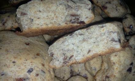 Biscuiți cu merișoare și făină integrală