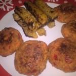 Chifteluțe cu piept de pui și legume, gulie la cuptor