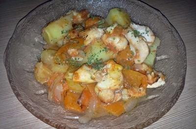 Iepure cu legume la cuptor