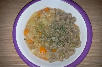 Pilaf cu legume și carne de vită