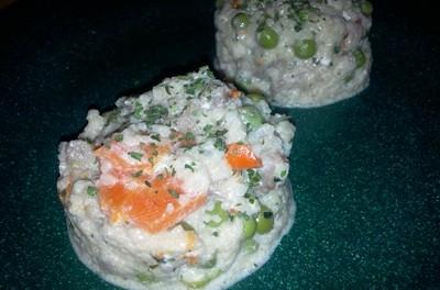 Piept de curcan cu legume, cous-cous și smântână