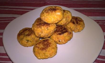 Chifteluțe cu somon și cartof dulce (fără ou)