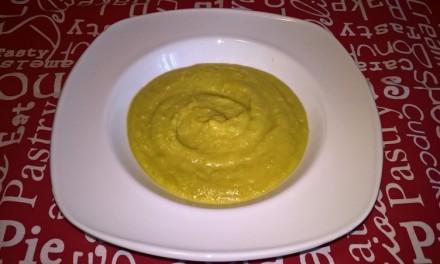 Supă cremă cu mazăre și cartof dulce
