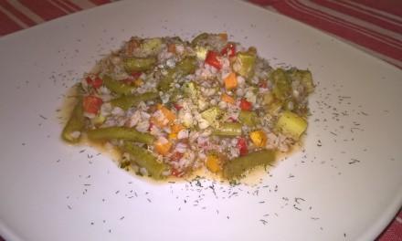 Tocană cu hrișcă și legume