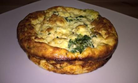 Omletă cu spanac și brânză la cuptor