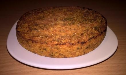 Budincă cu praz, roșii și cous-cous (fără lactate și ou)