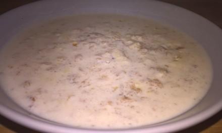 Lapte cu fulgi de orz și mozzarella
