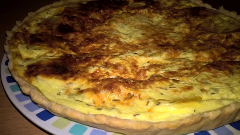 Tartă cu cartofi și Grana Padano