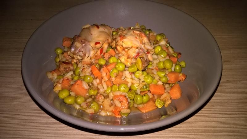 Iepure cu legume și orez