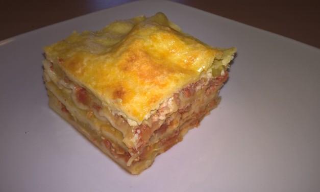 Lasagna cu dovlecei, mozzarella și cașcaval