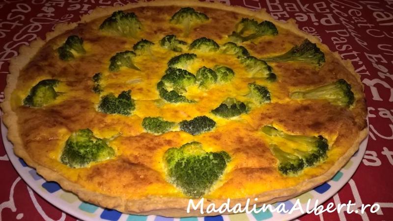 Tartă cu broccoli și brânză de capră
