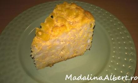 Budincă de paste cu brânză și dovleac la cuptor