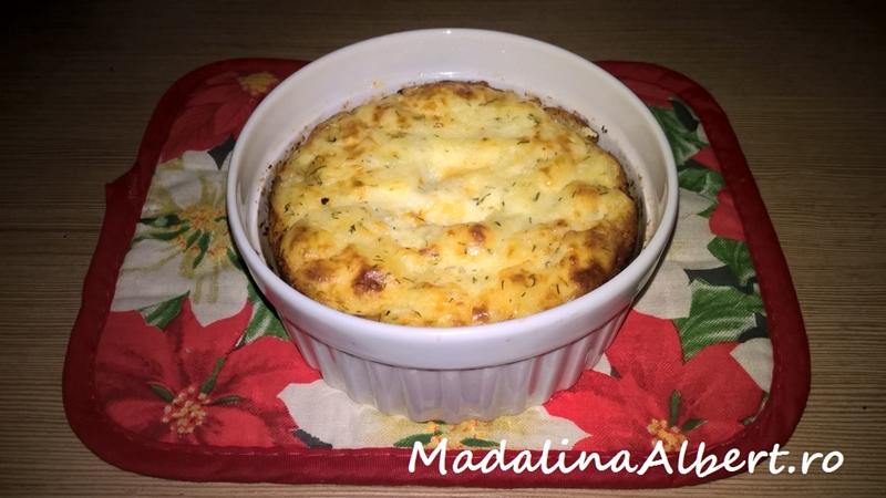 Budincă de cartofi cu Grana Padano