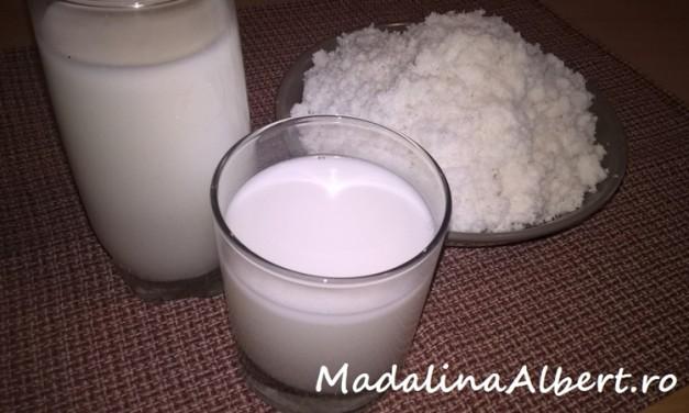 Lapte de cocos preparat din fulgi de cocos
