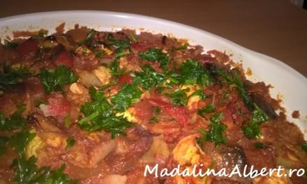Musaca de cartofi cu legume
