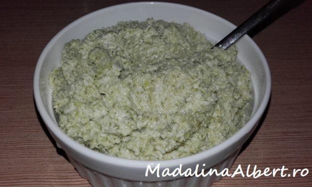 Cremă tartinabilă cu broccoli și mascarpone