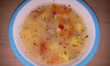 Serbușcă (ciorbă de legume acrită cu iaurt)