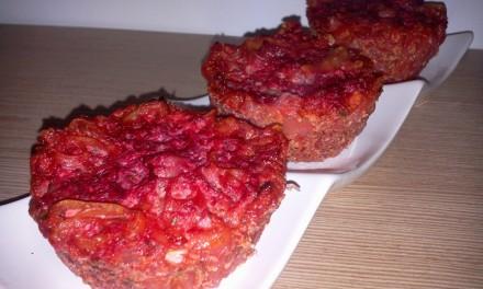 Sfeclă roșie cu brânză de vaci și paste la cuptor