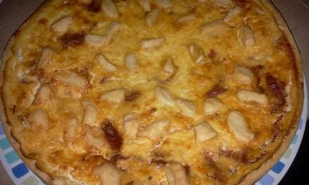 Tartă cu brânză de capră și ardei copți