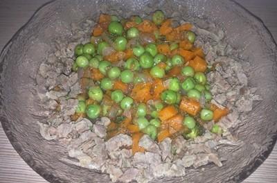 Mazăre cu carne de  vită