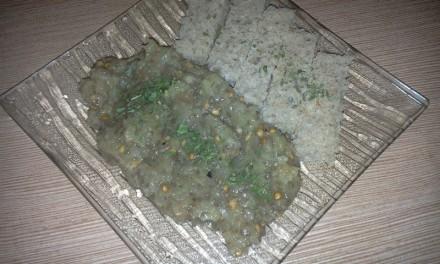 Salată de vinete cu semințe de chia