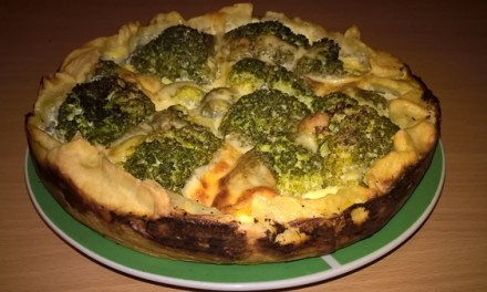 Tartă cu broccoli și brânză Brie