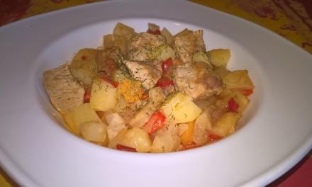 Gulaș de porc cu legume