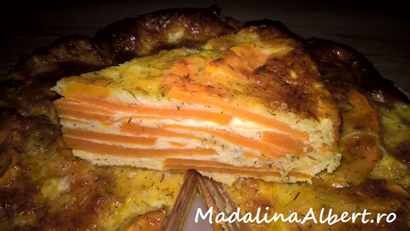 Budincă cu cartofi dulci și brânză Gouda