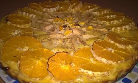 Tartă cu mere și portocale