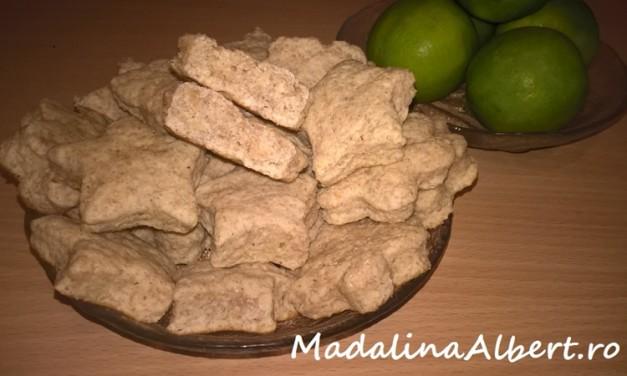 Biscuiți cu lămâi verzi și făină integrală