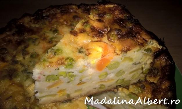 Budincă cu brânză și legume