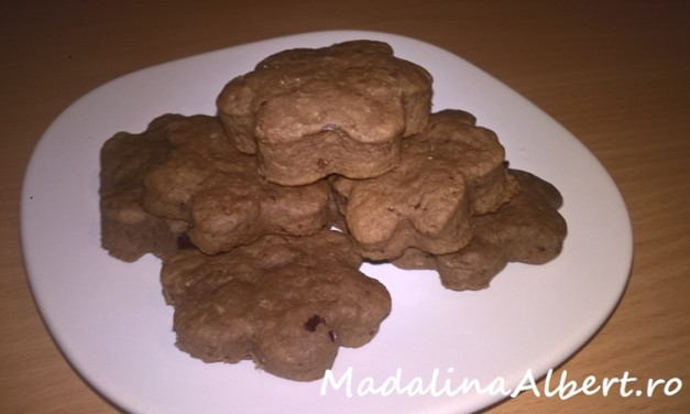 Biscuiți cu carob (pudră de roșcove) și curmale