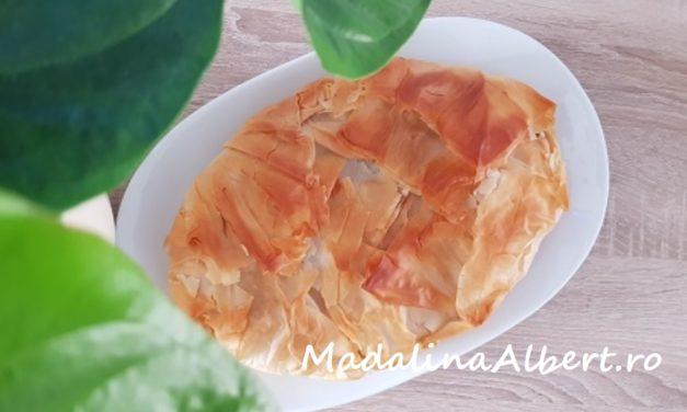 Plăcintă cu ciuperci Pleurotus și smântână