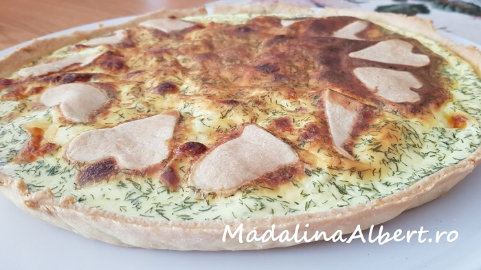 Tartă cu mozzarella și mărar