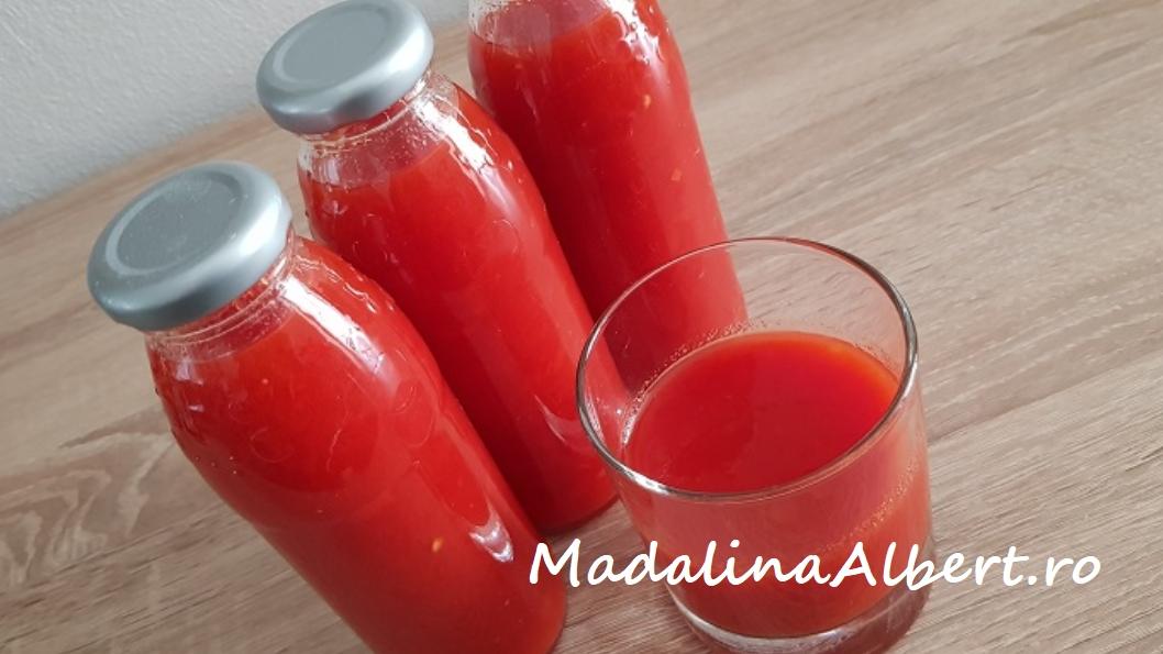 Suc de roșii cu ardei capia (pentru iarnă)