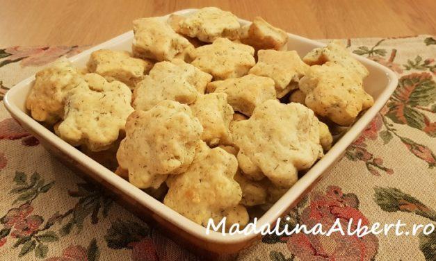 Biscuiți cu telemea și mărar